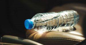Water bottle in car